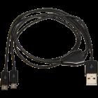 MUSB-201 DUAL Micro USB Kabel 1M Lang