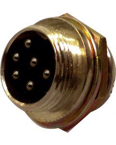 NC-519 chassisdeel voor 6-pins Microfoon Connector