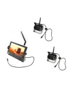 WRV-4CAM Draadloze achteruitrijcamera Kit met monitor en 2 camera's