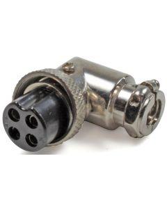 NC594 L-Form microfoonstekker (4-pins) met rubberen uitlaat