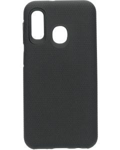 Rugged Tough Grip Case voor Galaxy A20 - Zwart