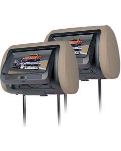 Universele DVD hoofdsteunen set met 7inch LCD scherm (2 stuks)