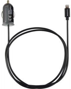 Auto Lader Apple Lightning 2.4A Zwart