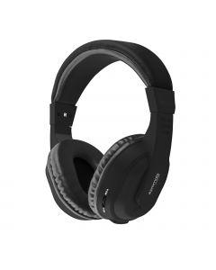 Tempo-BT Herlaadbare Draadloze Over-Ear Headset / Koptelefoon (Zwart)