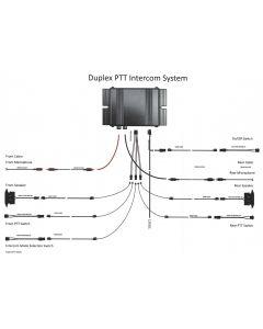 FDVI-01 Full Duplex Voertuig Intercom 2 Microfoons / 2 Luidsprekers