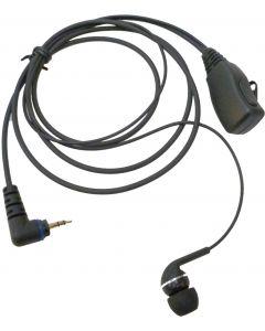 EP-0419H5 Rubberen In-Ear Oortje + PTT (Twist connector)