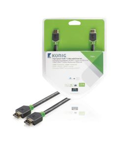 High Speed HDMI kabel met Ethernet HDMI-Connector - HDMI-Connector 7.50 m Antraciet