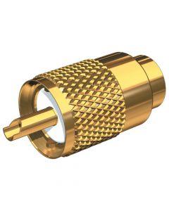 PL-259/6 Gouden 18k 6mm Lange PL connectie