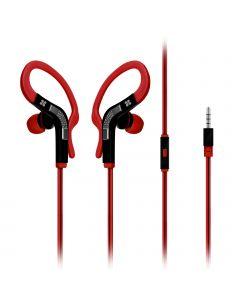 Snazzy In-Ear Sport Earbuds / Oortjes met haak (Rood)