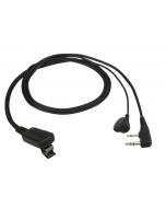 EMC-11W Speldmicrofoon met oortelefoon