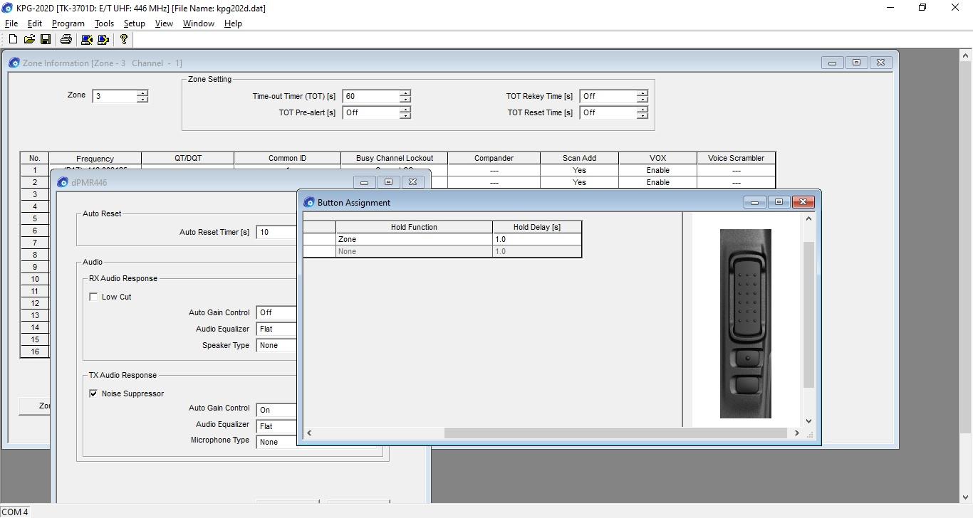 kenwood TK-3701D kpg-202d programmeer software