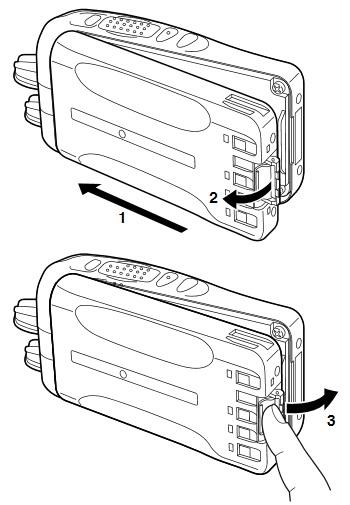 Kenwood KNB-55l batterij vervangen verwijderen